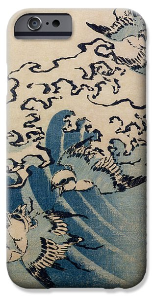 Waves And Birds IPhone 6s Case by Katsushika Hokusai