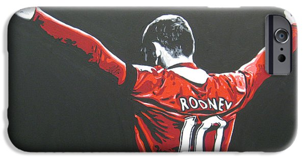 Wayne Rooney - Manchester United Fc 2 IPhone 6s Case by Geo Thomson