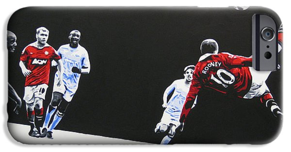 Wayne Rooney - Manchester United Fc IPhone 6s Case by Geo Thomson