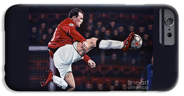 Wayne Rooney IPhone 6s Case by Paul Meijering