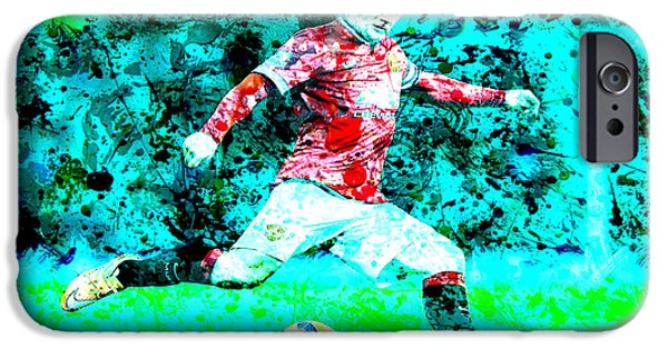 Wayne Rooney Splats IPhone 6s Case by Brian Reaves