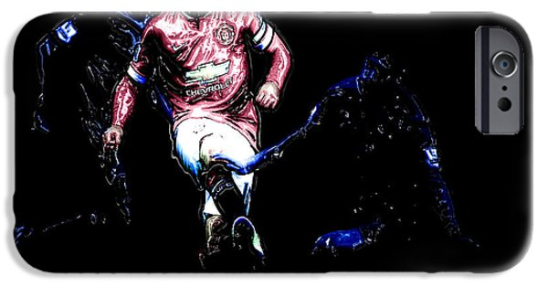 Wayne Rooney Working Magic IPhone 6s Case by Brian Reaves