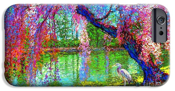 Weeping Beauty, Cherry Blossom Tree And Heron IPhone 6s Case