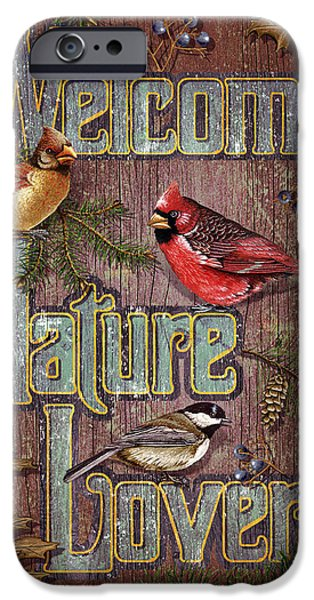Cardinal iPhone 6s Case - Welcome Nature Lovers 2 by JQ Licensing