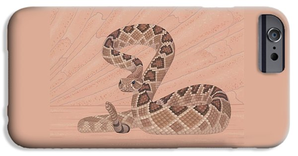 Diamondback iPhone 6s Case - Western Diamondback Rattlesnake by Nathan Marcy