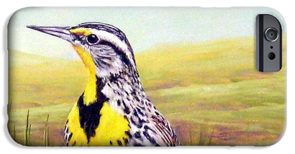 Meadowlark iPhone 6s Case - Western Meadowlark by Tom Chapman