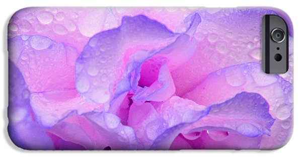 IPhone 6s Case featuring the photograph Wet Rose In Pink And Violet by Nareeta Martin
