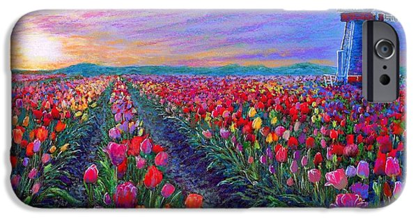 Impressionism iPhone 6s Case -  Tulip Fields, What Dreams May Come by Jane Small