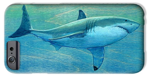 Sharks iPhone 6s Case - What Lurks Below by Nathan Ledyard