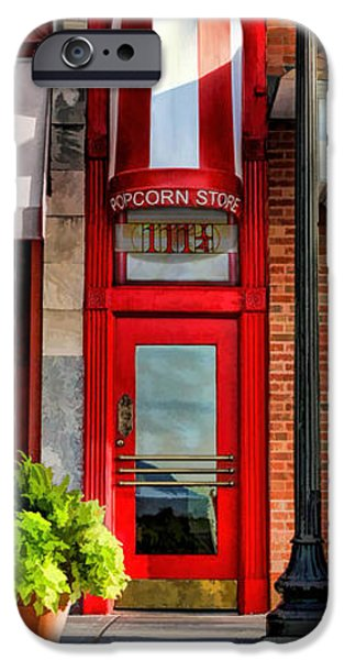Wheaton Little Popcorn Shop Panorama IPhone 6s Case by Christopher Arndt