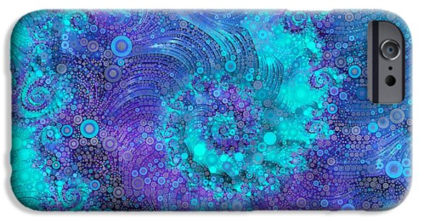 Fractal iPhone 6s Case - Where Mermaids Play by Susan Maxwell Schmidt