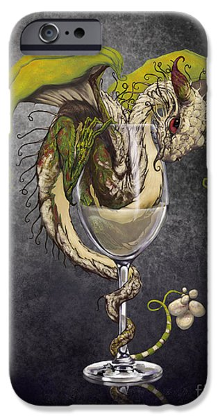 Dragon iPhone 6s Case - White Wine Dragon by Stanley Morrison