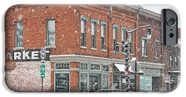 Whitehouse iPhone 6s Case - Whitehouse Ohio In Snow 7032 by Jack Schultz
