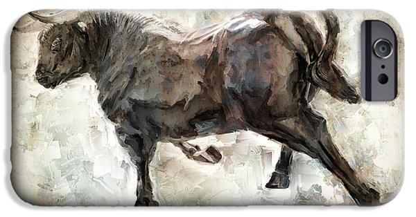 Wild Raging Bull IPhone 6s Case by Daniel Hagerman