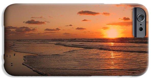 Sandpiper iPhone 6s Case - Wildwood Beach Sunrise II by David Dehner