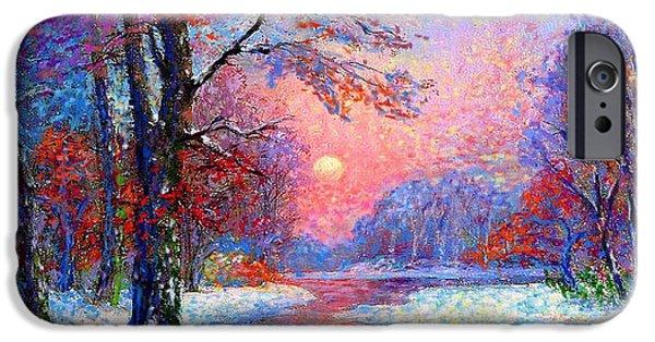 Winter Nightfall, Snow Scene  IPhone 6s Case
