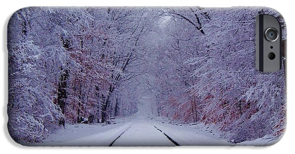 Train iPhone 6s Case - Winter Rails by Greg Kear