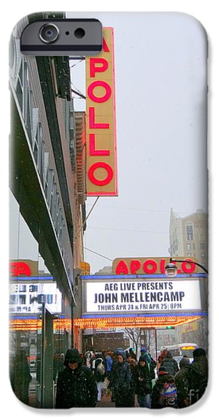Apollo Theater iPhone 6s Case - Wintry Day At The Apollo by Ed Weidman