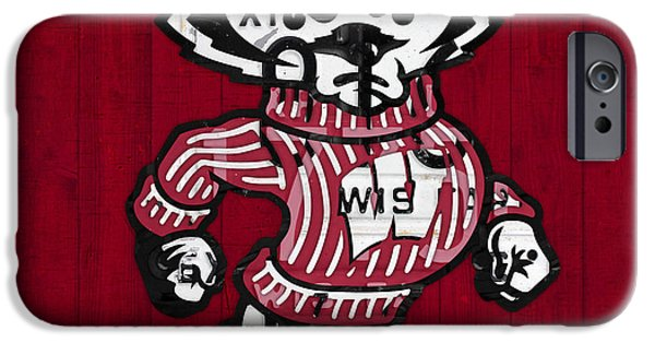 Wisconsin Badgers College Sports Team Retro Vintage Recycled License Plate Art IPhone 6s Case by Design Turnpike
