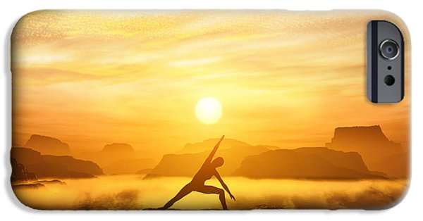Yoga iPhone 6s Case - Woman Meditating In Tree Yoga Position  by Michal Bednarek