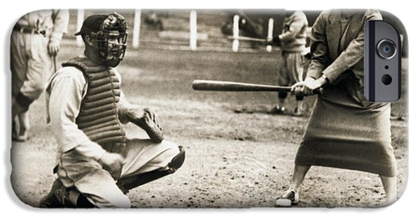 Woman Tennis Star At Bat IPhone 6s Case by Underwood Archives