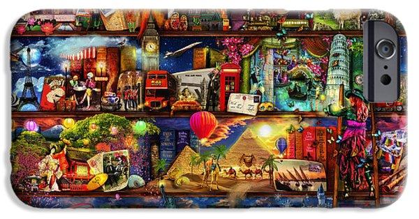 World Travel Book Shelf IPhone 6s Case by Aimee Stewart