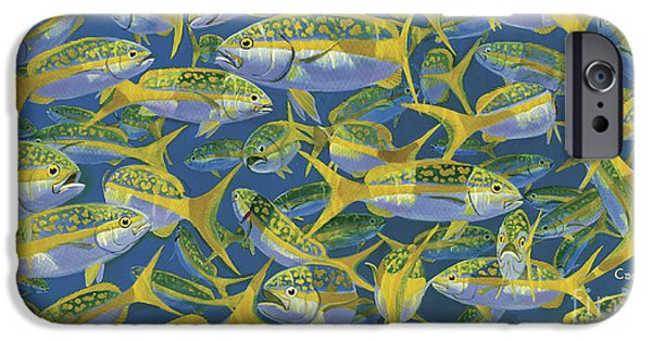 Scuba Diving iPhone 6s Case - Yellowtail Frenzy In0023 by Carey Chen