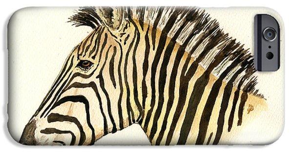 Zebra Head Study IPhone 6s Case by Juan  Bosco