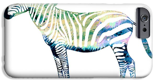Zebra  IPhone 6s Case by Watercolor Girl