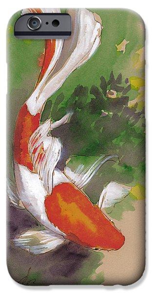 Koi iPhone 6s Case - Zen Comet Goldfish by Tracie Thompson
