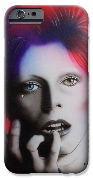 Celebrities iPhone 6s Case - Ziggy Stardust by Christian Chapman Art