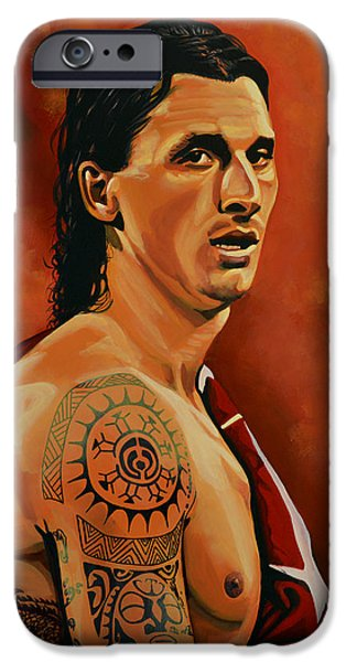 Barcelona iPhone 6s Case - Zlatan Ibrahimovic Painting by Paul Meijering