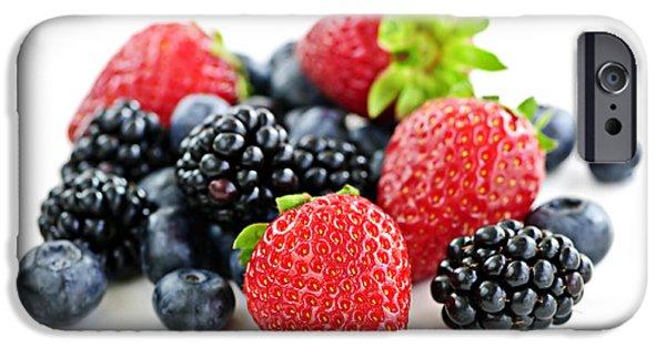 Blue Berry iPhone 6s Case - Assorted Fresh Berries by Elena Elisseeva