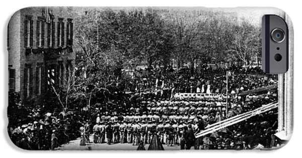 Lincolns Funeral Procession, 1865 IPhone Case by Photo Researchers