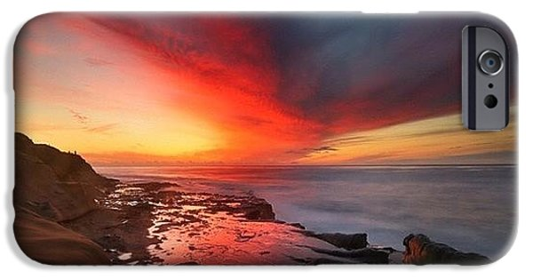iPhone 6s Case - Long Exposure Sunset In La Jolla by Larry Marshall