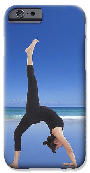 Yoga iPhone 6s Case - Woman Doing Yoga On The Beach by Setsiri Silapasuwanchai