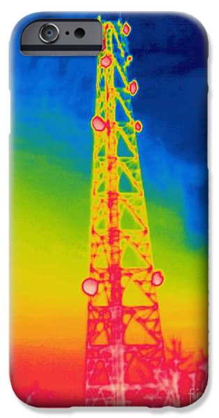 A Thermogram Of An Antenna IPhone Case by Ted Kinsman