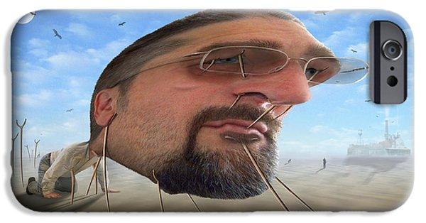 Buzzard iPhone 6s Case - Awake . . A Sad Existence 2 by Mike McGlothlen