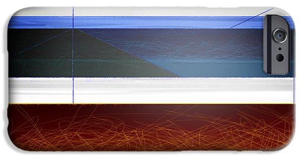 Contemporary iPhone 6s Case - Blue Bridge To Life by Naxart Studio