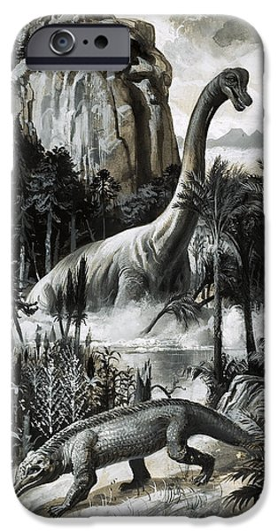 Dinosaurs IPhone 6s Case by Roger Payne