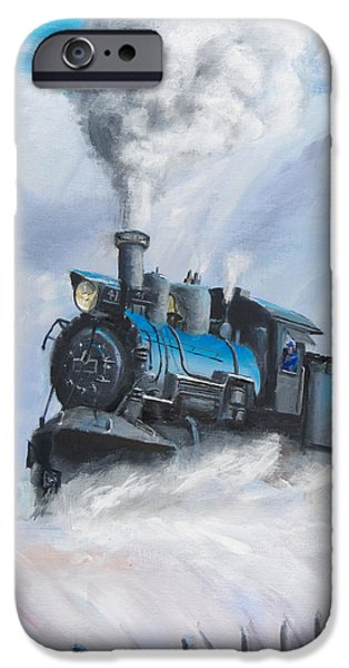Train iPhone 6s Case - First Train Through by Christopher Jenkins