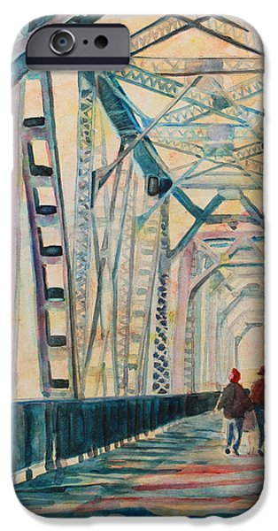 Train iPhone 6s Case - Foggy Morning On The Railway Bridge IIi by Jenny Armitage