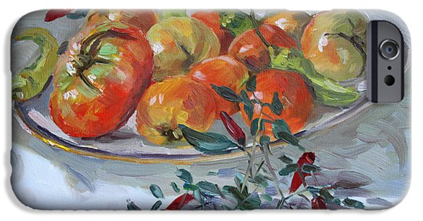 Tomato iPhone 6s Case - Fresh From The Garden by Ylli Haruni