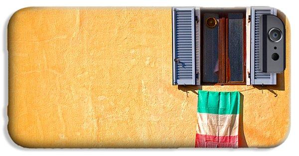 Italian Flag Window And Yellow Wall IPhone 6s Case