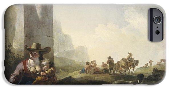 Italian Peasants Among Ruins IPhone 6s Case by Jan Weenix