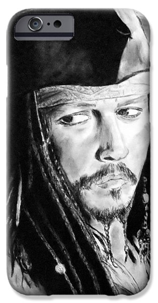 Johnny Depp As Captain Jack Sparrow In Pirates Of The Caribbean IPhone 6s Case by Jim Fitzpatrick