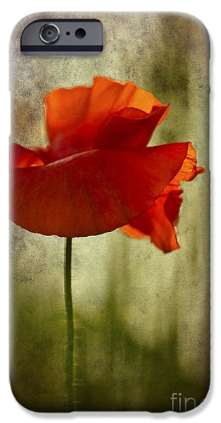 IPhone 6s Case featuring the photograph Moody Poppy. by Clare Bambers - Bambers Images