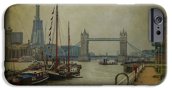 IPhone 6s Case featuring the photograph Moored Thames Barges. by Clare Bambers