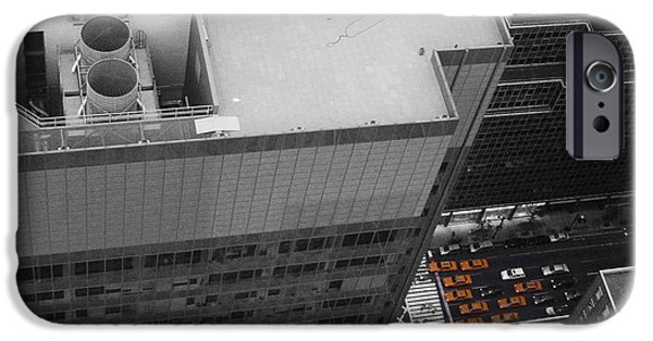 Chrysler Building iPhone 6s Case - New York Cabs by Naxart Studio