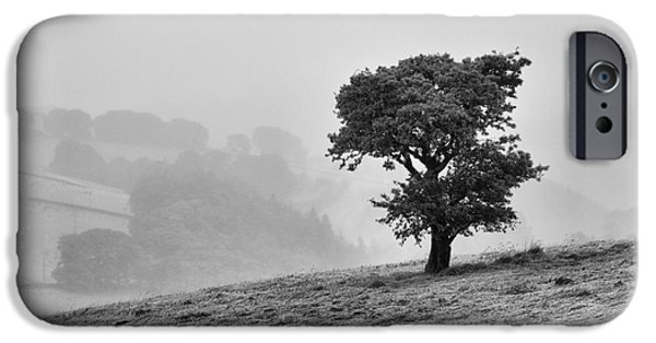 IPhone 6s Case featuring the photograph Oak Tree In The Mist. by Clare Bambers